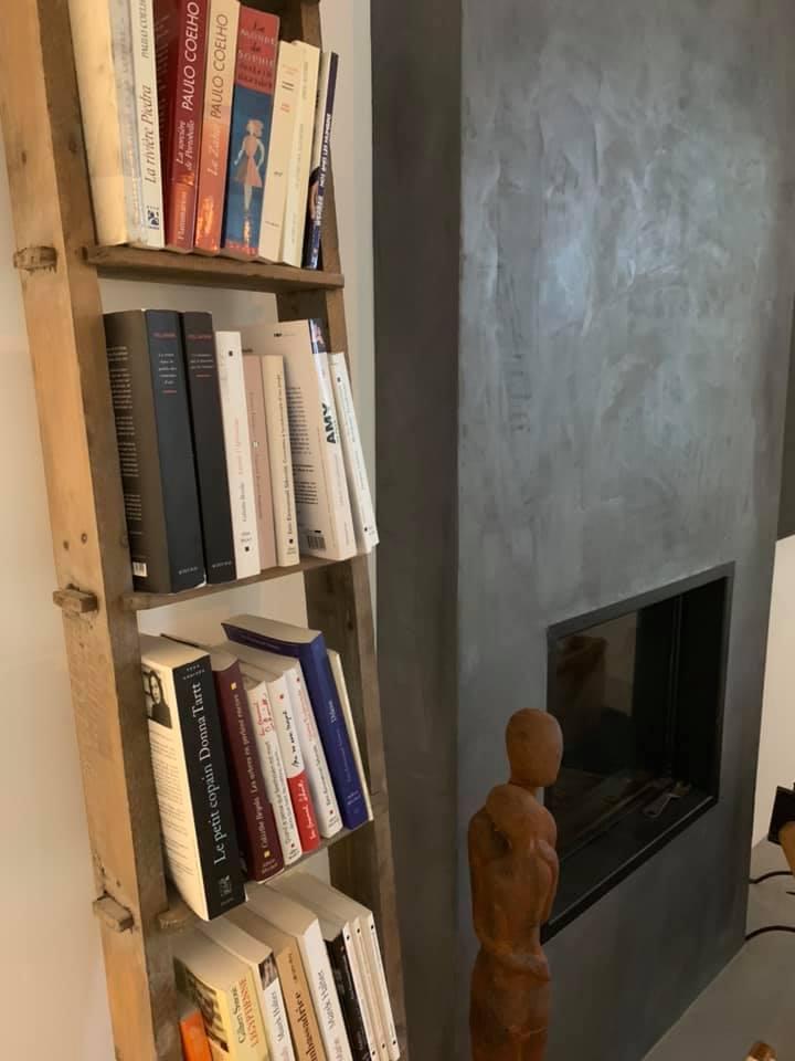 cheminée en béton ciré